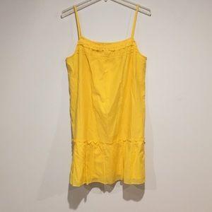 LOFT yellow cotton dress Sz Medium